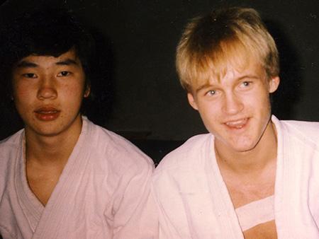 Jarne og Arne på Fjellheim skole - vinteren 1987